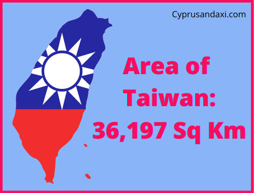 Area of Taiwan compared to the UK