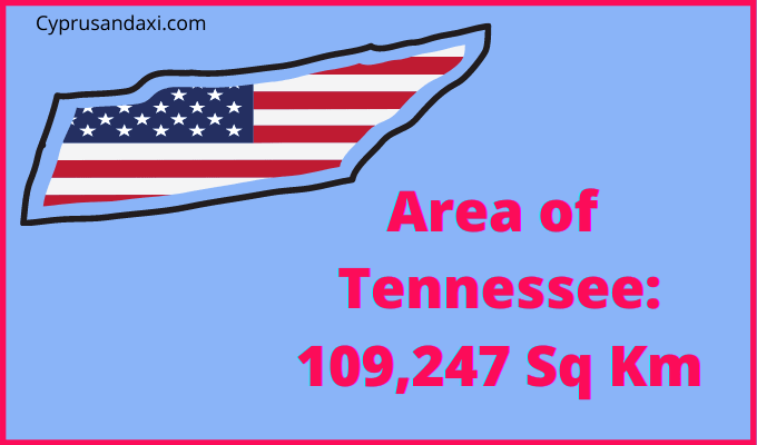Area of Tennessee compared to England