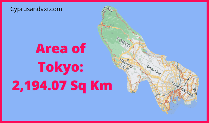 Area of Tokyo compared to Wales