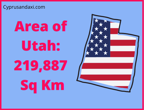 Area of Utah compared to England