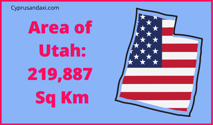 Area of Utah compared to the UK