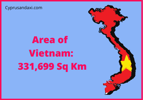 Area of Vietnam compared to the UK