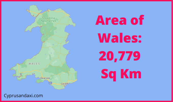 Area of Wales compared to Denmark