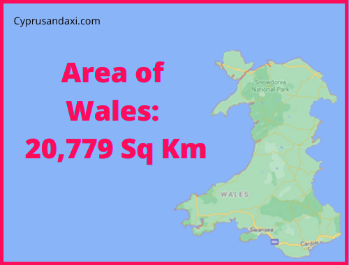 Area of Wales compared to England