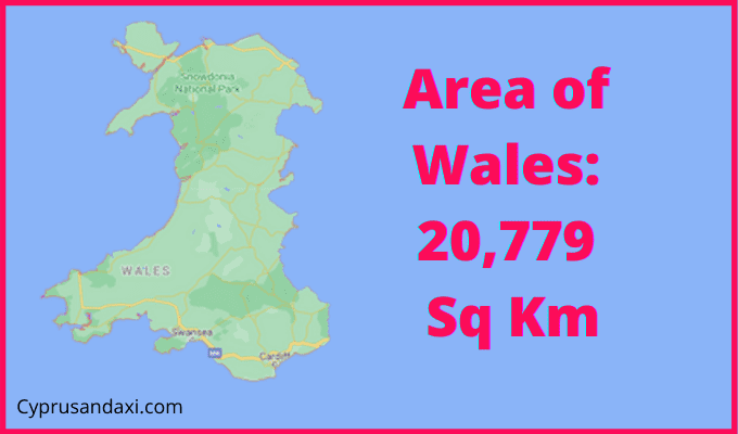 Area of Wales compared to Germany