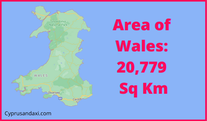 Area of Wales compared to Glasgow