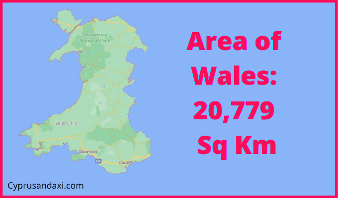 Area of Wales compared to Hawaii