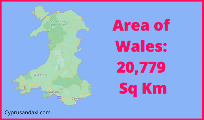 Area of Wales compared to Holland