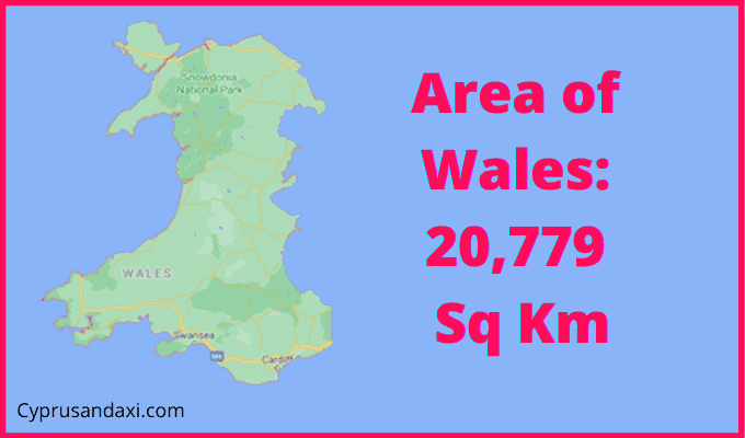 Area of Wales compared to Hong Kong
