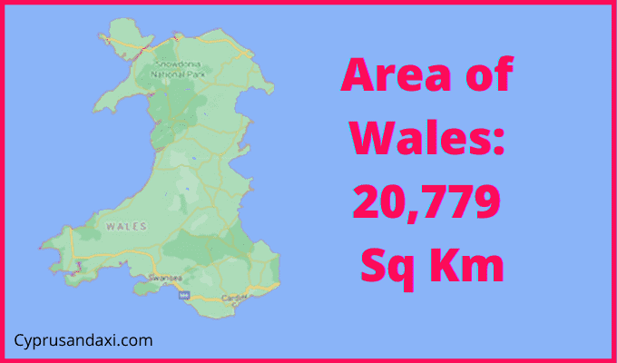 Area of Wales compared to London