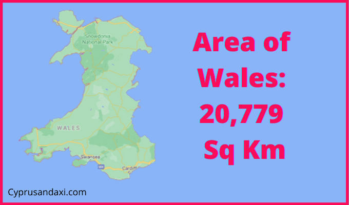 Area of Wales compared to Los Angeles