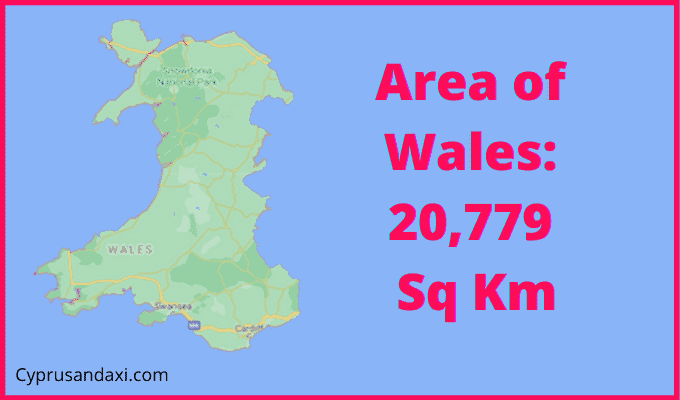 Area of Wales compared to New South Wales