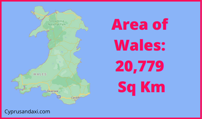 Area of Wales compared to Norway