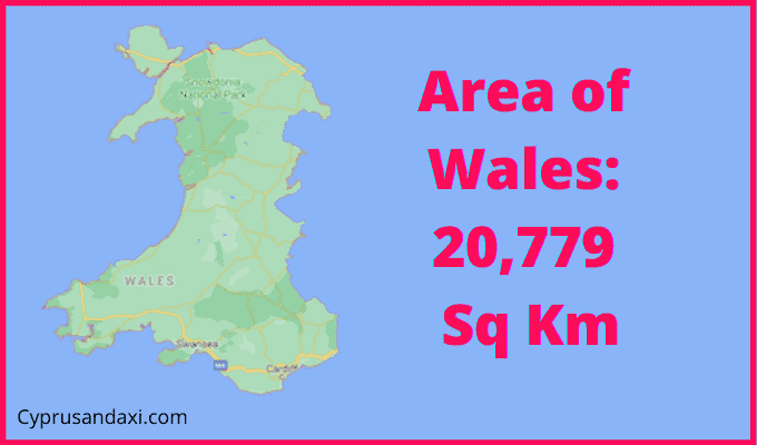Area of Wales compared to Queensland