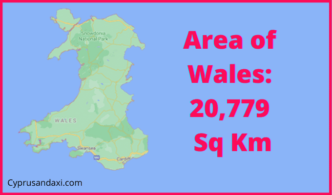 Area of Wales compared to Rhode Island