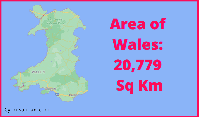 Area of Wales compared to Slovenia
