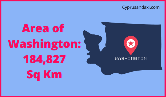 Area of Washington State of the USA compared to Northern Ireland