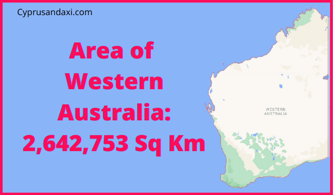Area of Western Australia compared to the UK