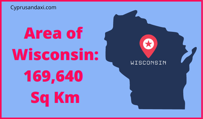 Area of Wisconsin compared to Northern Ireland