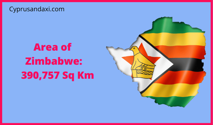 Area of Zimbabwe compared to Canada