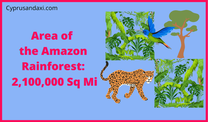 Area of the Amazon Rainforest compared to England