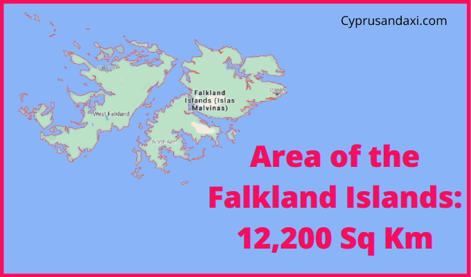 Area of the Falkland Islands compared to Wales