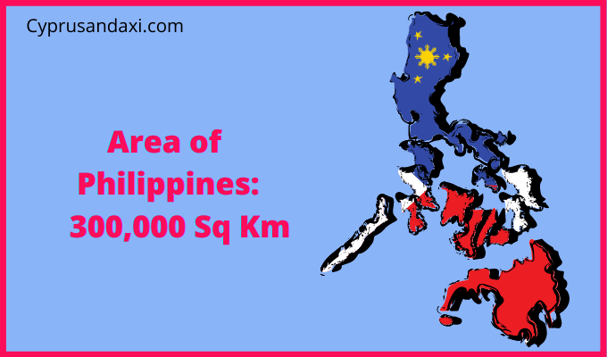 Area of the Philippines compared to the UK