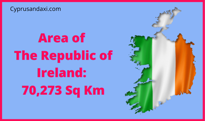 Area of the Republic of Ireland compared to Northern Ireland