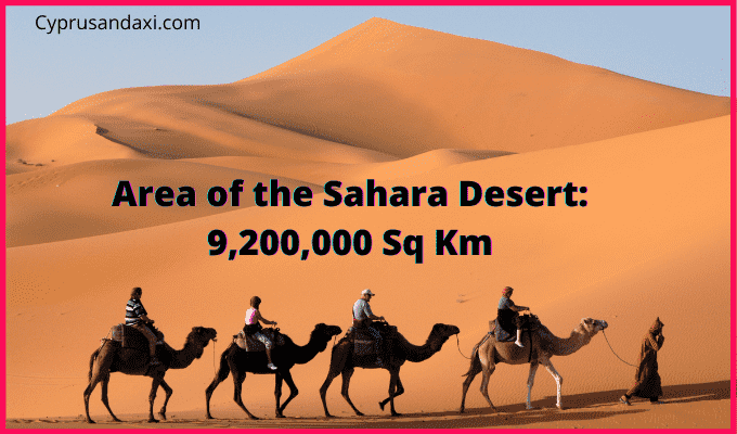 Area of the Sahara Desert compared to the UK