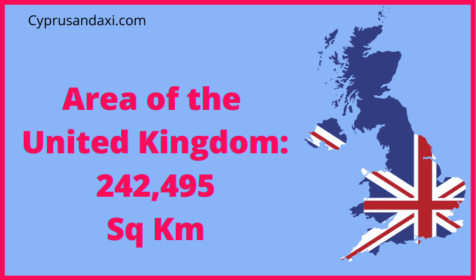 Area of the UK compared to Afghanistan