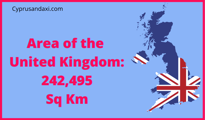 Area of the UK compared to Bahrain