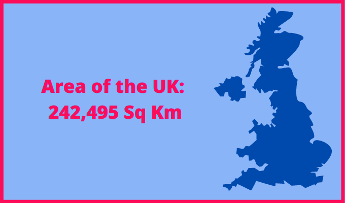 Area of the UK compared to Bangladesh