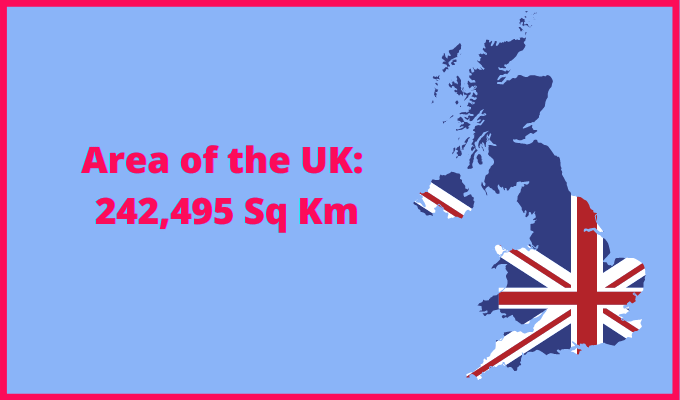 Area of the UK compared to Belgium