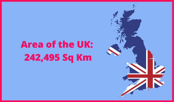 Area of the UK compared to California