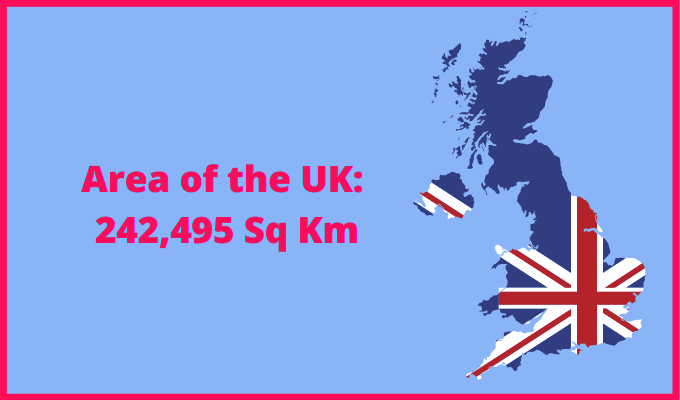 Area of the UK compared to Cuba