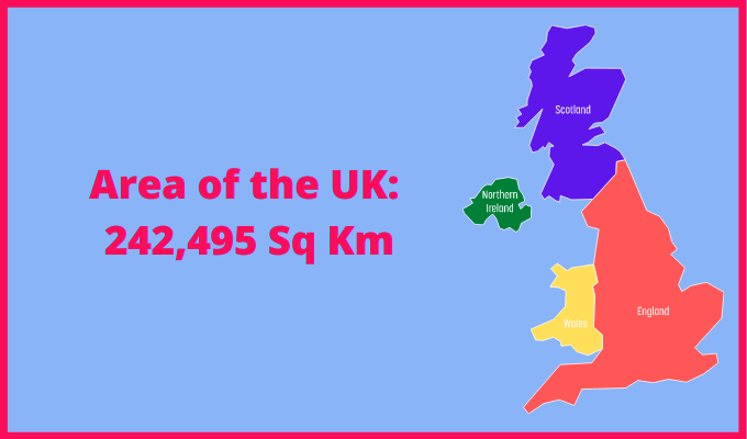 Area of the UK compared to Czech Republic