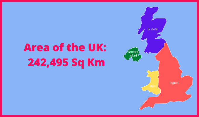Area of the UK compared to France