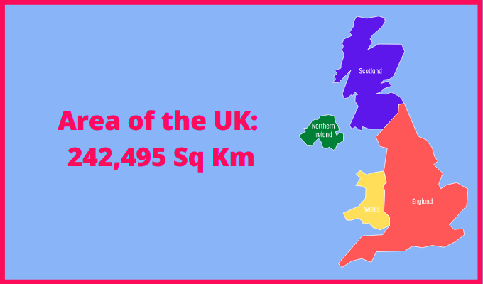 Area of the UK compared to Germany