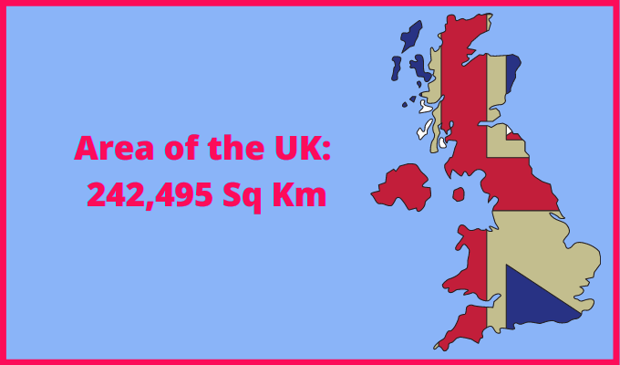 Area of the UK compared to Kuwait