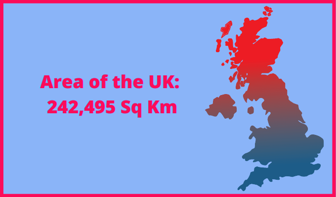 Area of the UK compared to Montana