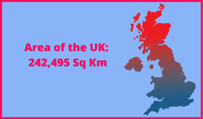 Area of the UK compared to Nigeria
