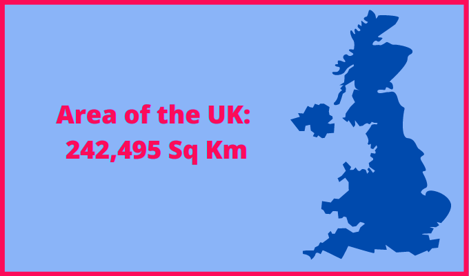 Area of the UK compared to Russia
