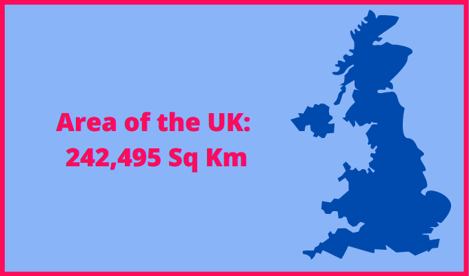 Area of the UK compared to Turkey