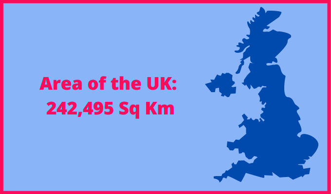 Area of the UK compared to Vermont