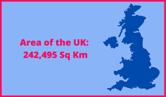 Area of the UK compared to Virginia