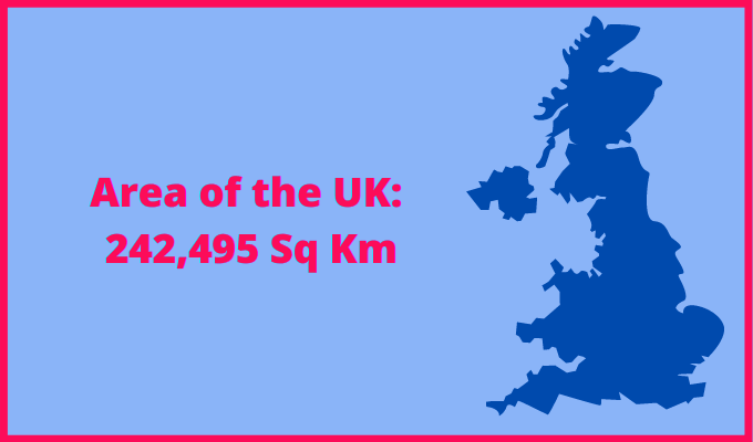 Area of the UK compared to the Netherlands