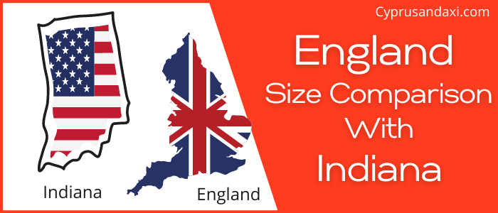 Is England Bigger than Indiana