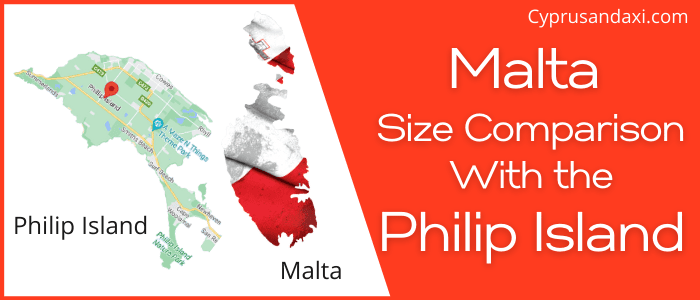Is Malta Bigger than Philip Island