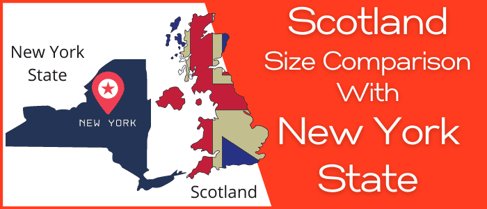 Is Scotland bigger than New York State