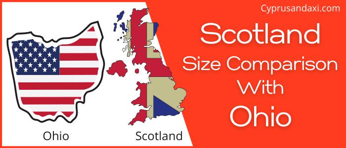 Is Scotland bigger than Ohio